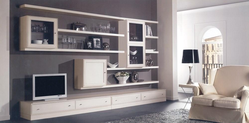 Classico romanato mobili - Parete attrezzata bianca ...