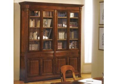Libreria in ciliegio 8 ante e 2 cassetti