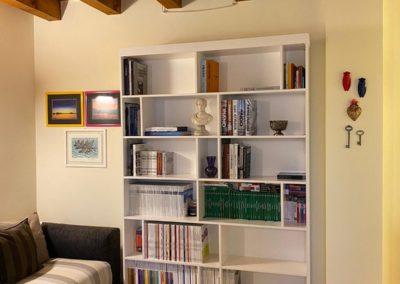Libreria laccato bianco
